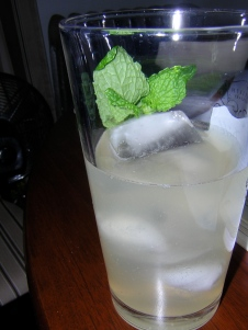 ginger-mint iced tea