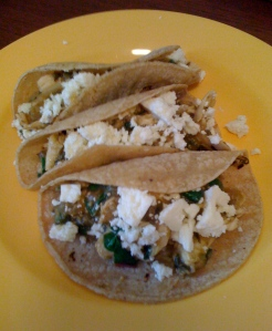 tacos of tomatillo chicken