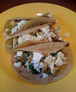 tacos of tomatillo chicken