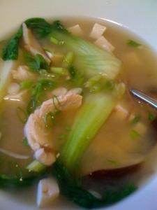 chicken miso soba soup