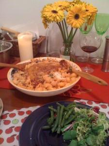 pasta dinner for 2