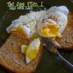eggs over easy with toast