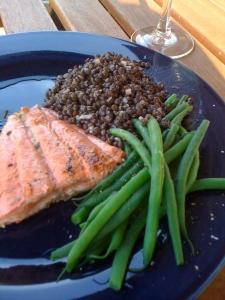 salmon lentls haricots