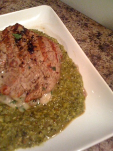 tenderloin with poblano sauce