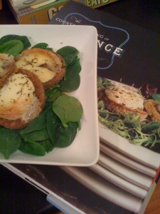 marinated goat cheese toast